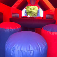 Red And Blue Obstacle Course