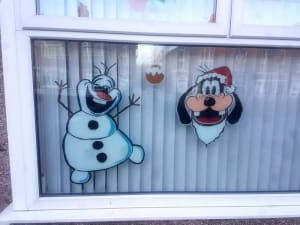 Large Hand Painted Window Stickers