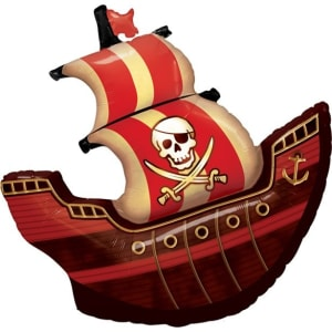Pirate Ship Supershape Balloon - 40inch Foil