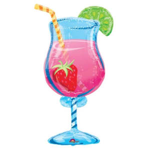 35 Inch Tropical Cocktail�supershape Foil Balloon