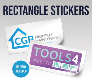 Rectangle Stickers 210x130mm Pvc Waterproof