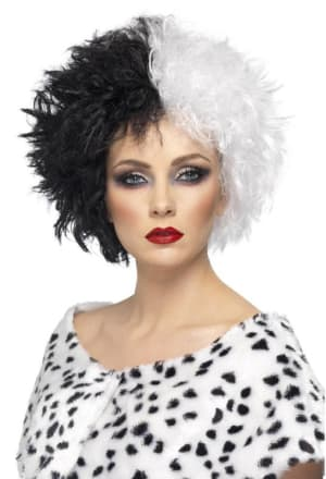 Evil Madame Wig Black And White