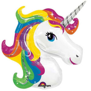 Rainbow Unicorn Supershape Balloon - 33inch Foil
