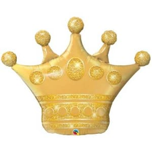 Golden Crown Balloon - 41inch Foil