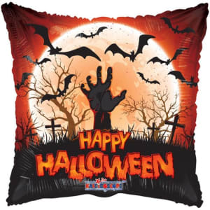 Square Happy Halloween Balloon 18 Inch