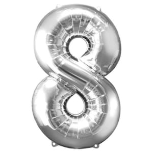 Number 8 Balloon - 34inch Foil