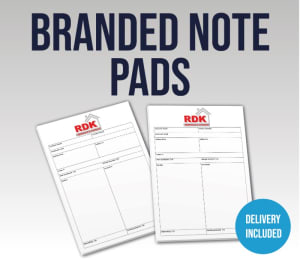 A4 Branded Desk Note Pads, Set Of 4, 8, Or 16 Pads