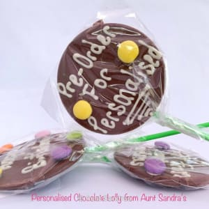 Personalised Chocolate Lolly