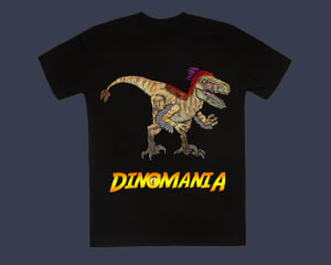 Dinomania T-shirt Rita The Utahraptor