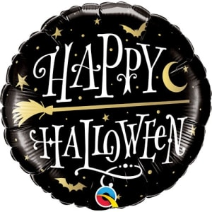 Black Happy Halloween Balloon 18 Inch