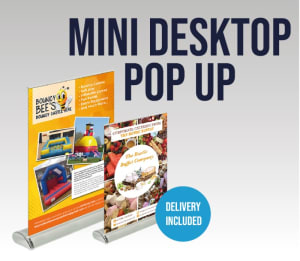 A4 Or A3 Mini Desktop Pop Up Banner