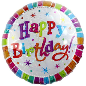 Radiant Birthday Balloon - 18inch Foil