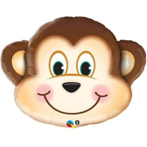 Mischievous Monkey Supershape Large Balloon - 35inch Foil