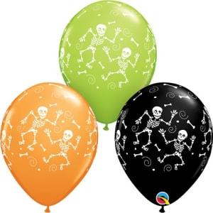 Fun Skeleton 11inch Latex Balloons Pk25