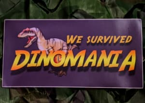 Dinomania Bumper Sticker