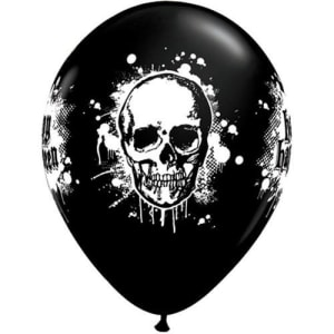 Haunted Skull 11inch Latex Balloons Pk6