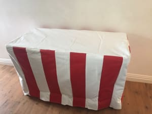 Table Cover Pvc Red & White Stripe (tcrww01)