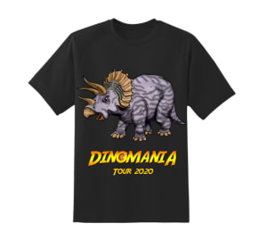Dinomania T-shirt Millie The Triceratops