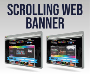 Website Scrolling Banner Design