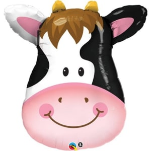 Birthday Contented Cow Supershape Balloon - 32inch Foil
