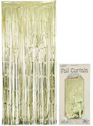 Oaktree Foil Door Curtain 0.90m X 2.40m Metallic Gold