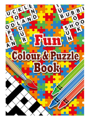 Puzzle And Colouring Book