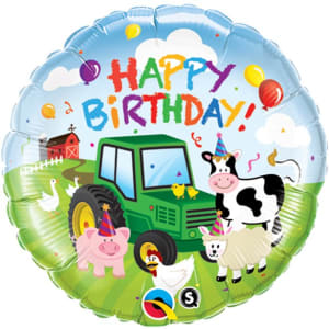 Happy Birthday Barnyard Balloon - 18inch Foil