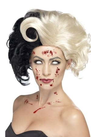 Evil Madame Wig Black And Blonde
