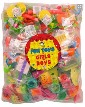 Bag Of 100 Assorted Party Bag Fillers