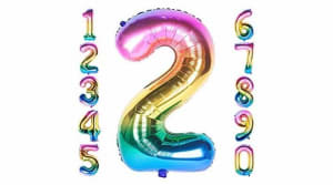 Numbered Balloons In Matalic Colours