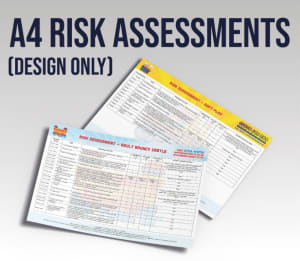 A4 Risk Assessments - Design Work Only - Not Printed