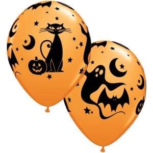 Fun Spooky 11inch Latex Balloons Pk25