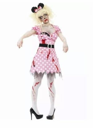 Zombie Rodent Fancy Dress Costume