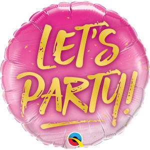 Lets Party Balloon - 18inch Foil