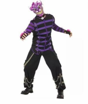 Once Upon A Nightmare Cheshire Cat Halloween Fancy Dress Costume (large)