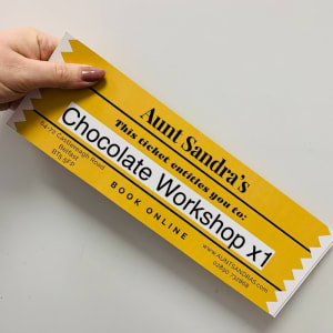 Chocolate Workshop Ticket Voucher