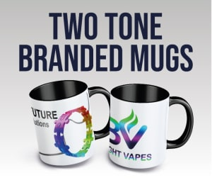 11 Oz (350ml) Branded Two Colour / Tone Mugs