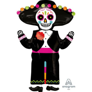 Day Of The Dead Skeleton 34inch Supershape Balloon