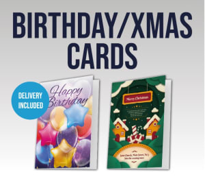 Christmas Or Birthday Cards In A4 Folded To A5 (one Fold With 4 Sides)