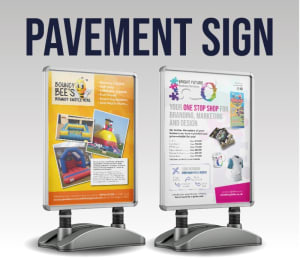 A1 Pavement Stand And Water Base With Or Without 2x A1 Posters