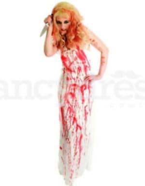 Bloody Prom Dress Fancy Dress Costume (small)