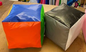 2 Giant Foam Cubes