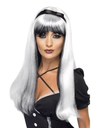 Bewitching Wig Black And White
