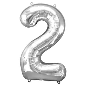 Number 2�balloon - 34inch Foil