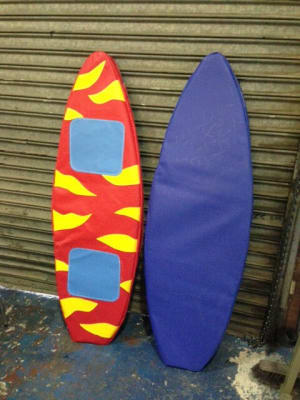 Mechanical Rodeo Bull And Surf Board Covers
