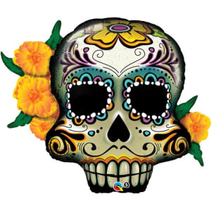 Day Of The Dead Skull 38inch Supershape Balloon