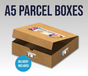 A5 Delivery - Parcel Box With Flap (214 X 152 X 25 Mm)