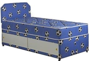 Blue Single Football Theme Divan