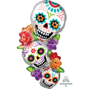Sugar Skull 38inch Supershape Balloon