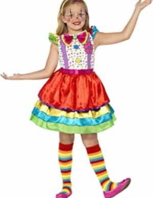 Girls Clown Dress And Hat - Small